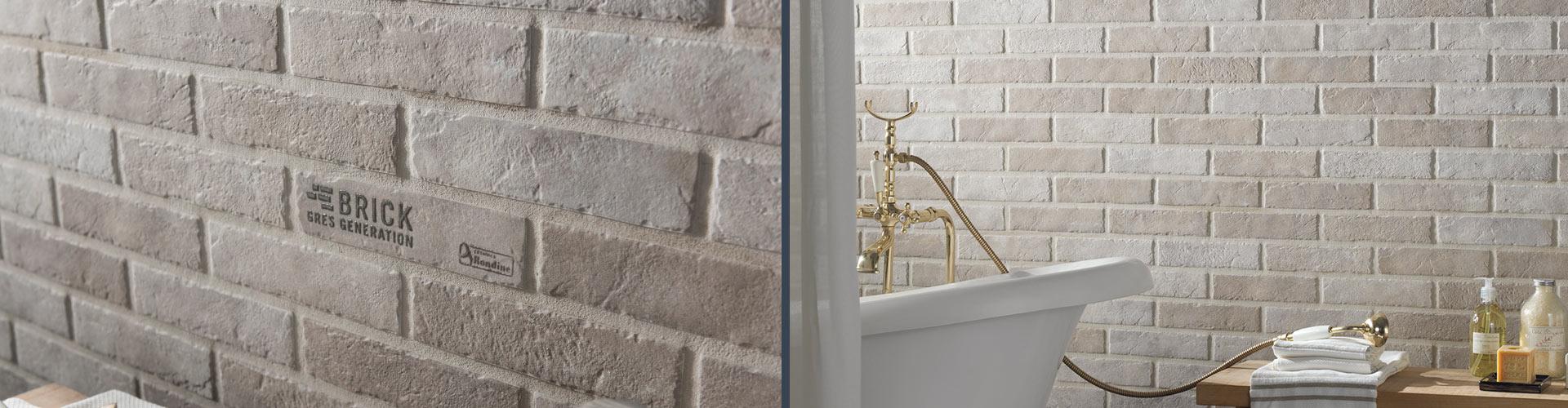 Стены ванной комнаты. Sand Brick
