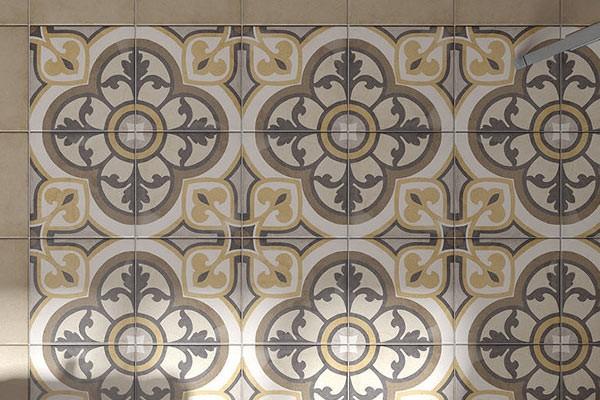 Интерьер с керамогранитом Art Nouveau, Equipe