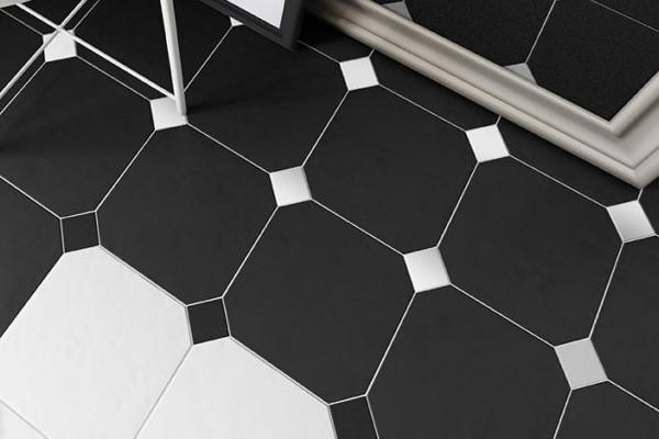 Интерьер ванной комнаты с плиткой Octagon, Equipe