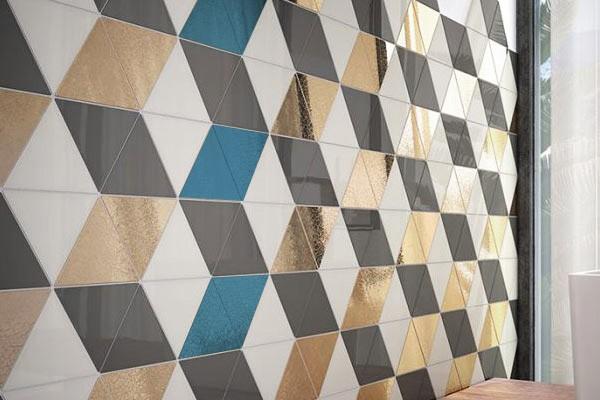 Стена комнаты с плиткой треугольниками Scale Triangolo, Equipe