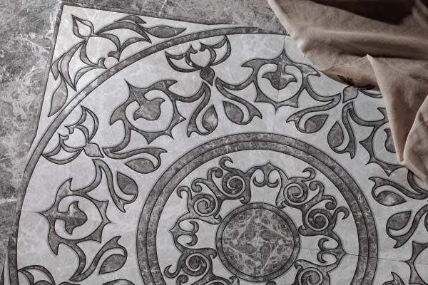 Напольный декор Fiori di Pesca, Serra в интерьере